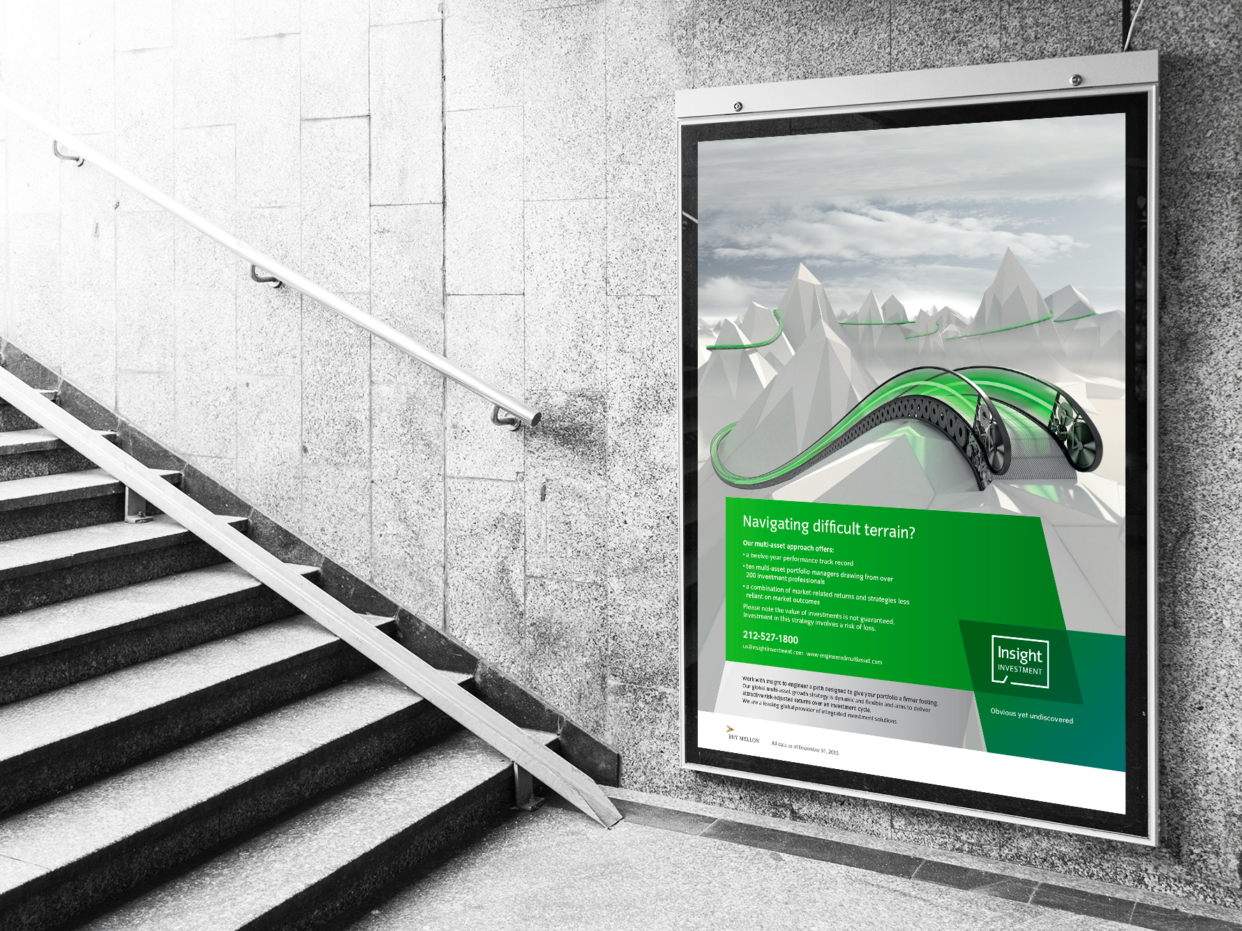 insight investment escalator campaign billboard image