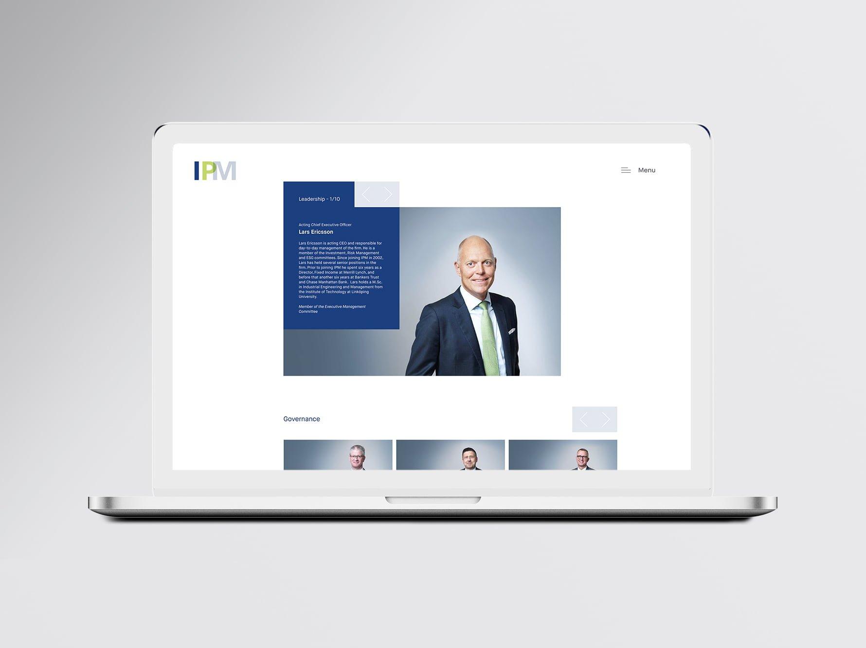 IPM WEBSITE MOCKUP